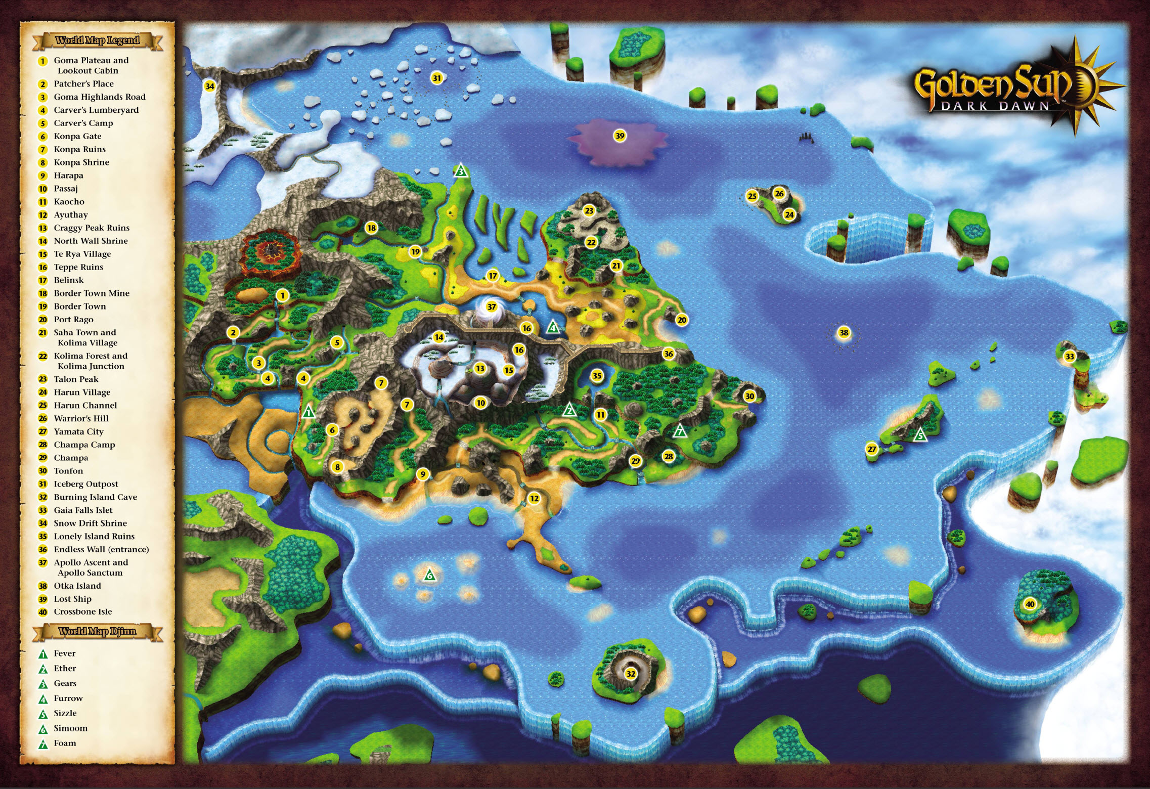 Golden Sun Adepts Refuge Golden Sun Dark Dawn – Golden Sun World Map