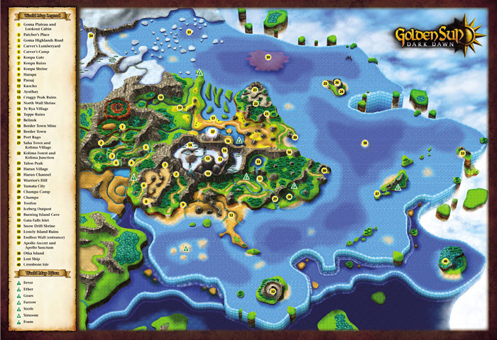 Golden Sun Adept's Refuge - Golden Sun: Dark Dawn on metroid prime map, dragon quest map, starcraft map, pac-land map, oracle of ages map, portal map, pool of radiance map, aria of sorrow map, tales of symphonia map, gta v map, hyrule warriors map, breath of fire 2 map, dragon warrior 3 map, illusion of gaia map, gta advance map, tales of phantasia map, mystic quest map, beyond the beyond map, halo map,